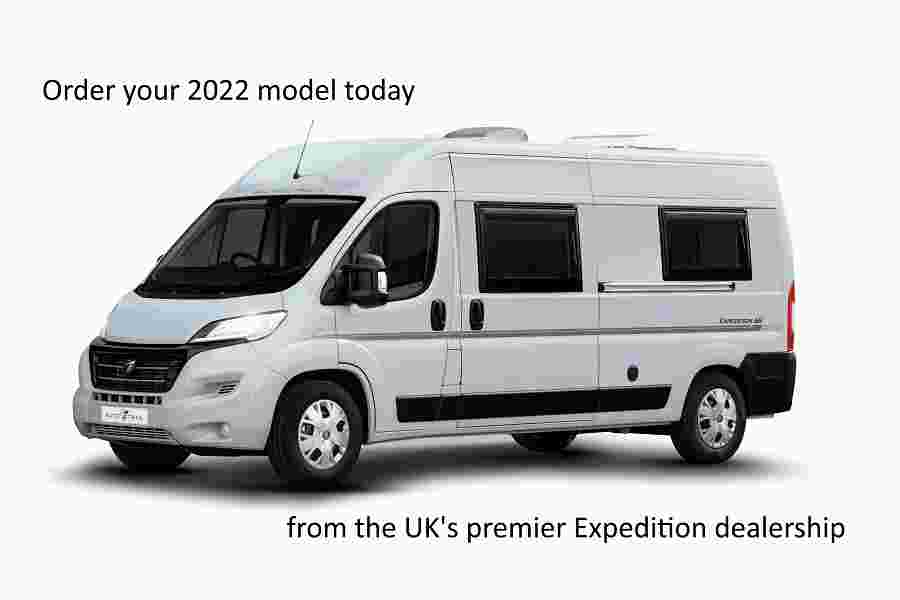 expedition van expedition grey advert banner