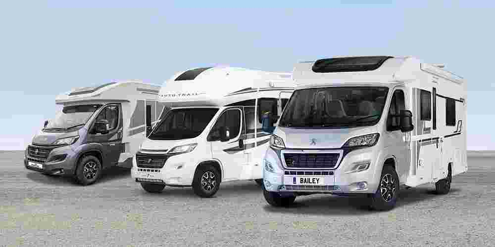 Auto-Trail, Bailey and Roller Team Motorhome ranges